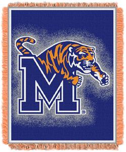 Northwest NCAA Memphis Tigers Jacquard Throws