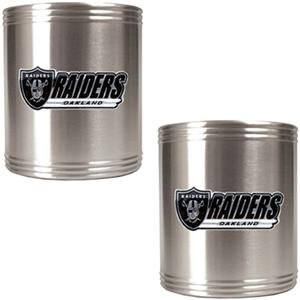 NFL Oakland Raiders Stainless Steel Can Holders