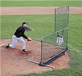 JUGS Travel Ball Quick Snap 7' Pitchers L-Screen