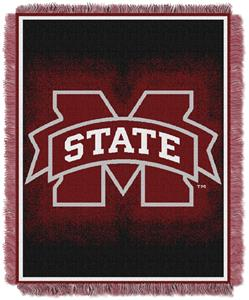 Northwest NCAA Mississippi Bulldogs Jacquard Throw