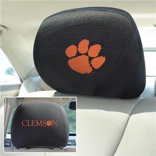 Fan Mats Clemson University Head Rest Covers