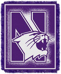 Northwest NCAA Northwestern Jacquard Throws