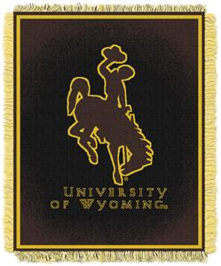 Northwest NCAA Wyoming Cowboys Jacquard Throws