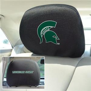 Fan Mats Michigan State University Head Rest Cover
