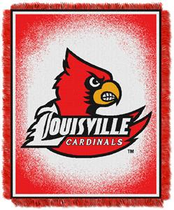 Northwest NCAA Louisville Cardinals Jacquard Throw