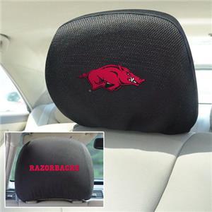 Fan Mats University of Arkansas Head Rest Covers