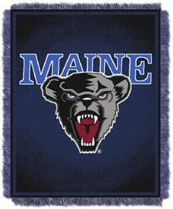 Northwest NCAA Maine Black Bears Jacquard Throws