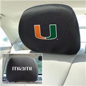 Fan Mats University of Miami Head Rest Covers