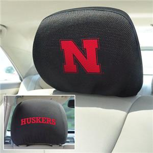 Fan Mats University of Nebraska Head Rest Covers