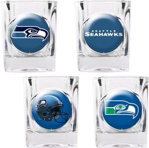 NFL Seattle Seahawks 4pc Collector Shot Glass Set