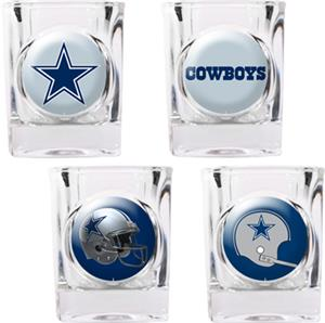NFL Dallas Cowboys 4pc Collector's Shot Glass Set