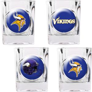 NFL Minnesota Vikings 4pc Collector Shot Glass Set