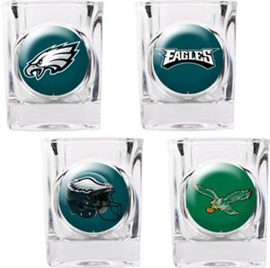 NFL Philadelphia Eagles 4pc Collector Shot Glasses