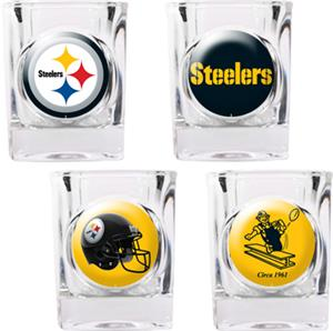 NFL Pittsburgh Steelers 4pc Collector Shot Glasses