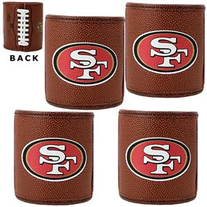 NFL San Francisco 49ers 4pc Football Can Holders
