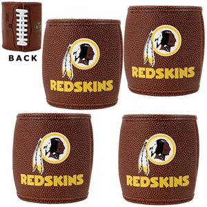 NFL Washington Redskins 4pc Football Can Holders