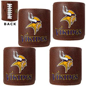 NFL Minnesota Vikings 4pc Football Can Holder Set