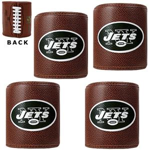 NFL New York Jets 4pc Football Can Holder Set