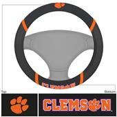 Fan Mats Clemson University Steering Wheel Covers