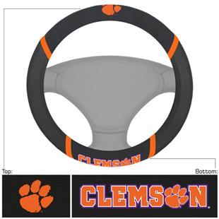 Fan Mats Clemson University Steering Wheel Covers