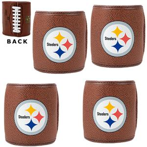 NFL Pittsburgh Steelers 4pc Football Can Holders