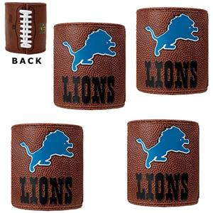 NFL Detroit Lions 4pc Football Can Holder Set