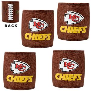 NFL Kansas City Chiefs 4pc Football Can Holder Set