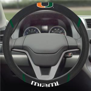 Fan Mats University of Miami Steering Wheel Covers
