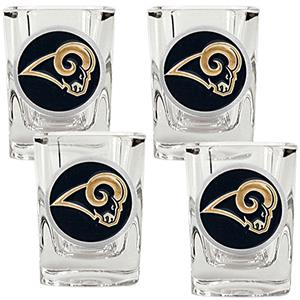 NFL St. Louis Rams 4pc Square Shot Glass Set