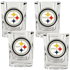NFL Pittsburgh Steelers 4pc Square Shot Glass Set