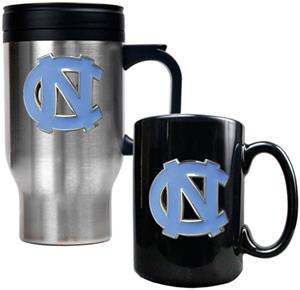 North Carolina Tar Heel Travel Mug Coffee Mug Set