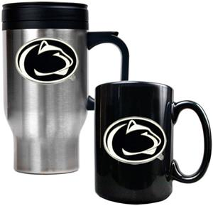 NCAA Penn State Travel Mug & Coffee Mug Set