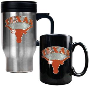 NCAA Texas Longhorns Travel Mug & Coffee Mug Set