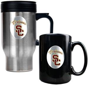South California Trojans Travel Mug Coffee Mug Set