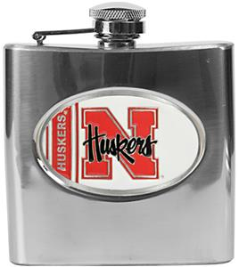 NCAA Nebraska Cornhuskers Stainless Steel Flask