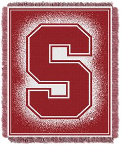 Northwest NCAA Stanford University Jacquard Throws