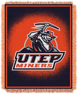 Northwest NCAA UTEP Miners Jacquard Throws