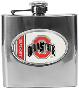 NCAA Ohio State Buckeyes Stainless Steel Flask