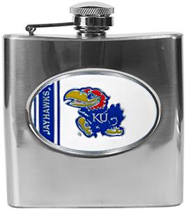 NCAA Kansas Jayhawks Stainless Steel Flask