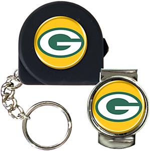 NFL Green Bay Packers 6' Tape Measure/Money Clip