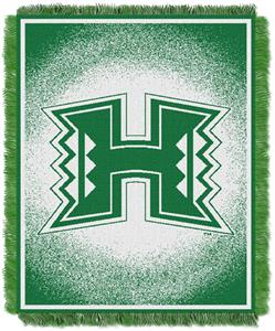 Northwest NCAA Hawaii Warriors Jacquard Throws