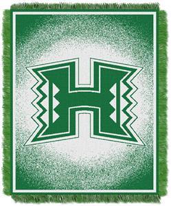 Northwest NCAA Hawaii Warriors Jacquard Throws