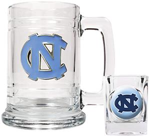 NCAA North Carolina Tar Heels Boilermaker Set