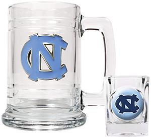 NCAA North Carolina Tar Heels Boilermaker Set