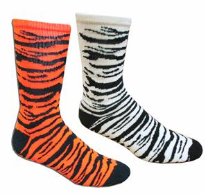 Red Lion Big Cat Athletic Zebra/Tiger Crew Socks