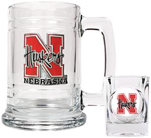NCAA Nebraska Cornhuskers Boilermaker Set