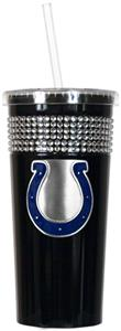 NFL Indianapolis Colts 16oz Bling Tumbler w/ Straw