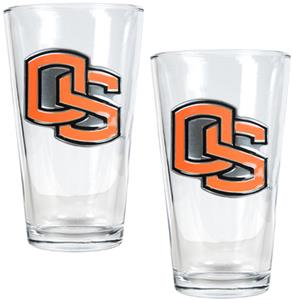 NCAA Oregon State Beavers 2pc Pint Glass Set