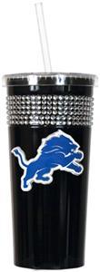 NFL Detroit Lions 16oz Bling Tumbler w/ Straw