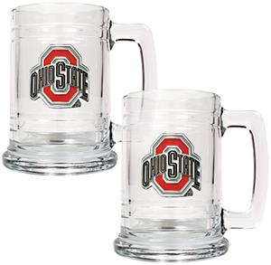 NCAA Ohio State Buckeyes 2pc Glass Tankard Set